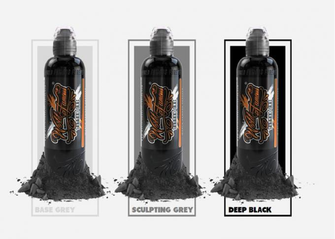 8oz Deep Black Tattoo Ink , Natural Tattoo Ink  Imported Coloring