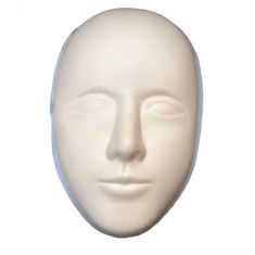 China Yellow Silicone Tattoo Practice Skin Face Silica Head Size 22cm * 14cm factory