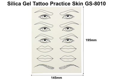 China White Silicone Tattoo Practice Skin Double Sides Food Silica Gel factory