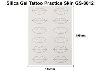 China Harmless Silicone Tattoo Practice Skin Non Toxic 100 Pieces Like Real Human Skin factory