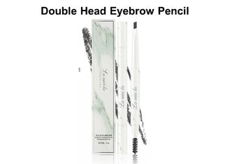 China Natural Looking Eyebrow Pencil , Double Head Makeup Eyebrow Pencil Smooth Coloring factory