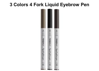 China 4 Fork Liquid Smudge Proof Brow Pencil , Light Natural Eyebrow Pencil factory